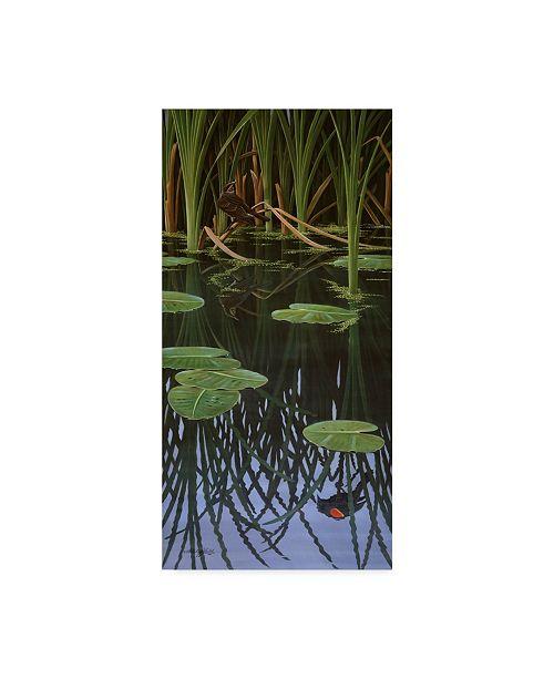 """Trademark Global Wilhelm Goebel 'Reflections Of Courtship' Canvas Art - 10"""" x 19"""""""