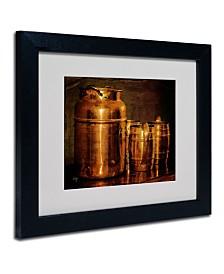 """Lois Bryan 'Copper Jugs' Matted Framed Art - 14"""" x 11"""""""