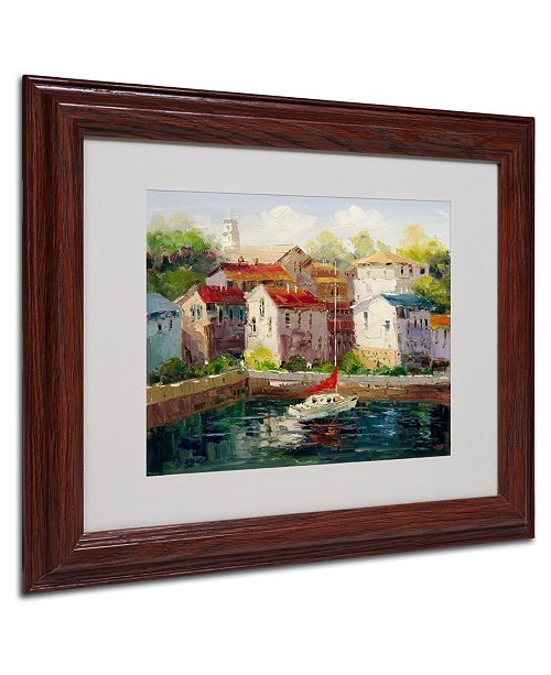 "Trademark Global Rio 'On Hollydays' Matted Framed Art - 14"" x 11"""