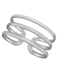 Sterling Silver Triple Band Adjustable Toe Ring