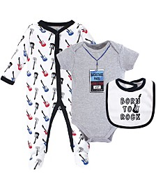 Little Treasure Sleeper, Bodysuit and Bandana Bib, 3 Piece Set, 0-9 months