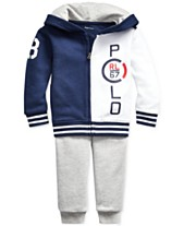 934ec1412 Polo Ralph Lauren Baby Boys Cotton French Terry Hoodie   Pants Set