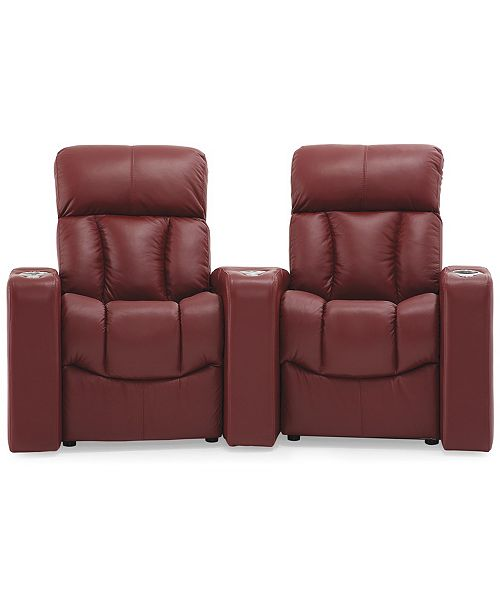 Furniture Stratsford Leather 2-Pc. Theatre Sectional Sofa
