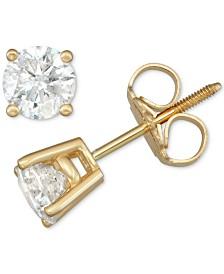 Diamond Stud Earrings (3/4 ct. t.w.) in 14 White Gold or 14k Gold