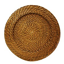 Jay Import Harvest Rattan Set/4 Round Charger
