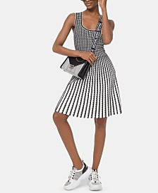 Michael Michael Kors Grid-Print Sleeveless Dress
