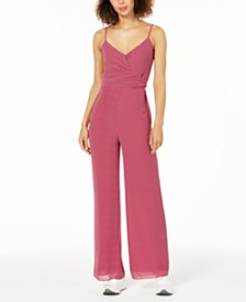 Michael Michael Kors Dotted Wide-Leg Jumpsuit, Regular and Petite