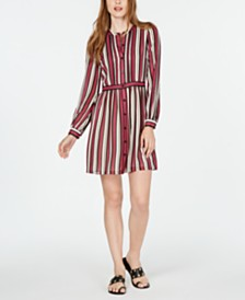 MICHAEL Michael Kors Pintuck-Trim Shirtdress, in Regular & Petite Sizes