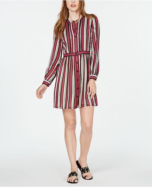 Michael Kors Pintuck-Trim Shirtdress, in Regular & Petite Sizes