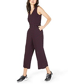 Printed Cropped Jumpsuit
