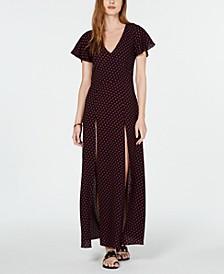 Printed High-Slit Dress