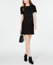 MICHAEL Michael Kors Studded Grommeted Dress