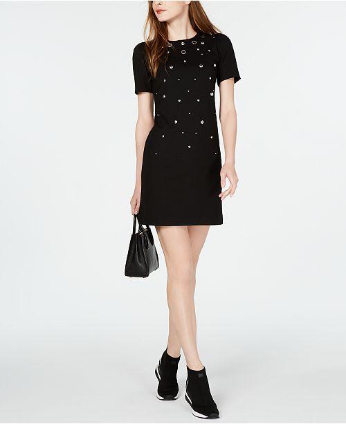Michael Kors Studded Grommeted Dress