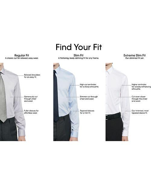fb637fc0a2bb Calvin Klein Men's Slim-Fit Non-Iron Performance Herringbone Point Collar Dress  Shirt ...