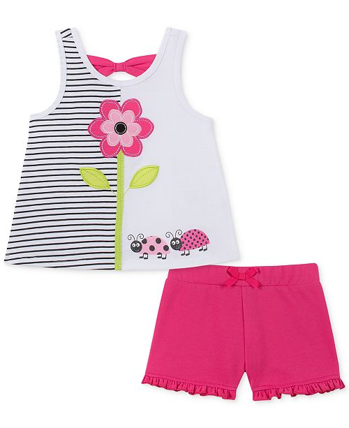 305317b84 Kids Headquarters Baby Girls 2-Pc. Tank Top & Shorts Set & Reviews ...