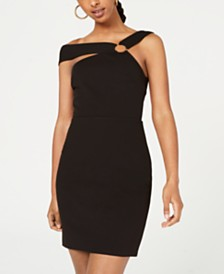 City Studios Juniors' One-Shoulder Bodycon Dress
