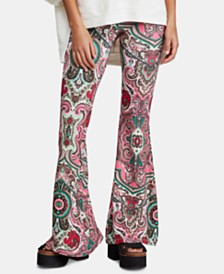 Free People Harper Printed Pull-On Pants