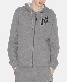 A|X Armani Exchange Men's Zip-Front Logo Graphic Sweatshirt
