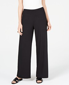 JM Collection Ribbed Wide-Leg Pull-On Pants, Created for Macys