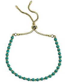 Argento Vivo Beaded Bolo Bracelet in Gold-Plated Sterling Silver