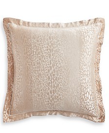Hotel Collection Classic Ombré Leopard European Sham, Created for Macy's
