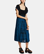 d29cecd0db56 Free People In Search Of Paradise A-Line Printed-Skirt Dress
