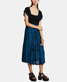 Free People In Search Of Paradise A-Line Printed-Skirt Dress