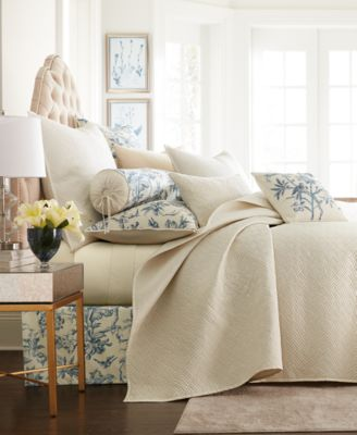 Classic Botanical Toile Full/Queen Coverlet, Created for Macy's