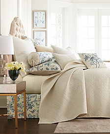 CLOSEOUT! Classic Botanical Toile King Coverlet, Created for Macy's