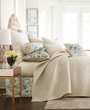 Closeout! Hotel Collection Classic Botanical Toile Full/Queen Coverlet, Created for Macy's Bedding