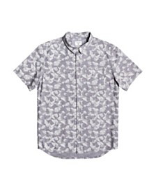 Quiksilver Men's Leaf Camo Short Sleeve Shirt