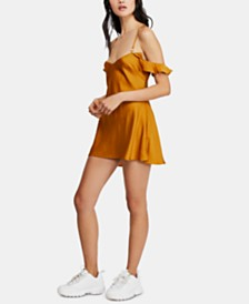 Free People What I Want Ruffled Mini Dress