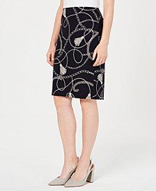 Nine West Printed Knit Skirt