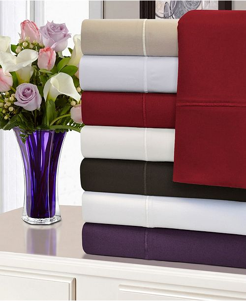 Superior 1500 Thread Count Cotton Solid Duvet Cover Set - Full/Queen