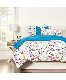 Crayola Splat 6 Piece Queen Luxury Duvet Set