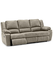 "Kovin 90"" Leather Sofa with 2 Power Recliners"