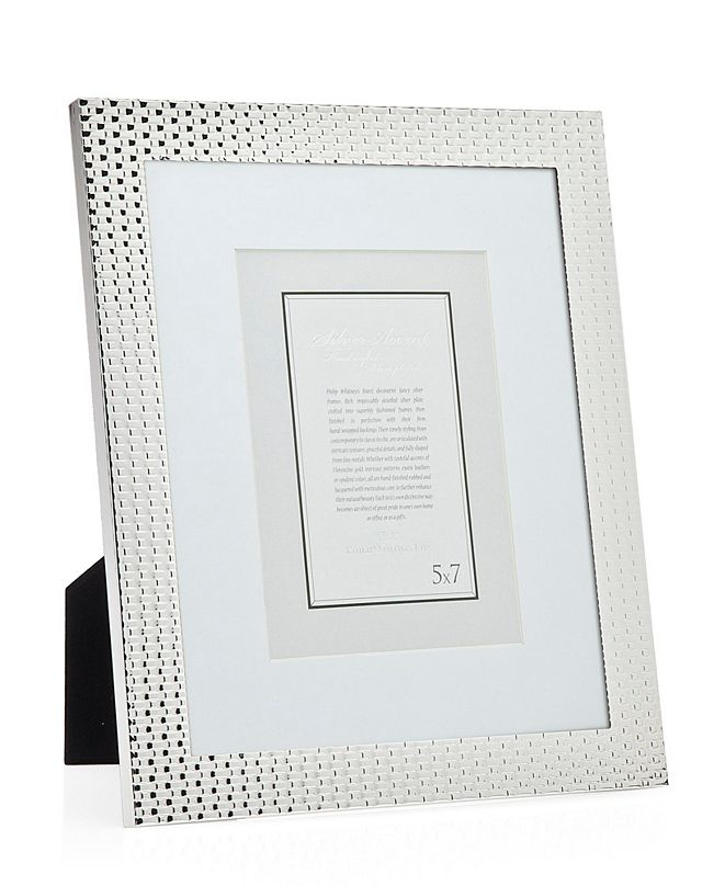 Philip Whitney Silver Woven Frame