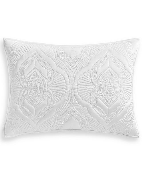 Hotel Collection Classic Medallion Quilted Standard Sham, Created for Macy's