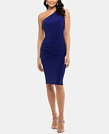 X by Xscape One-Shoulder Sheath Dress