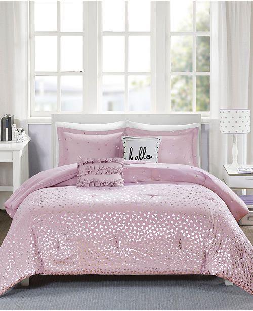 Intelligent Design Zoey Reversible 4-Pc. Twin/Twin XL Comforter Set