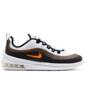 Nike Men's Air Max Axis Casual Sneakers From Finish Line In White/Total Orange-Obsidi