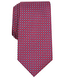 Men's Grid Silk Tie, Created for Macy's