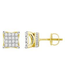 Men's Diamond (1 ct.t.w.) Square Earring Set in 10k Yellow Gold