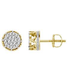 Men's Diamond (1/4 ct.t.w.) Earring Set in 10k Yellow Gold