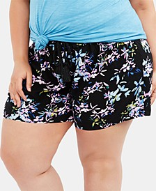 Maternity Plus Size Smocked Shorts
