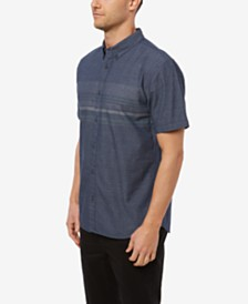 O'Neill Men's Factor Stripe Short Sleeve Woven