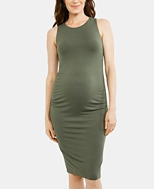 A Pea In The Pod Maternity Ruched Dress