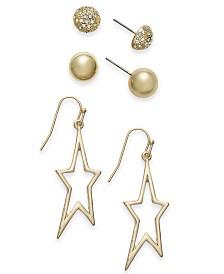 Thalia Sodi Gold-Tone 3-Pc. Set Earrings, Created for Macy's