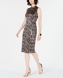 I.N.C. Mock-Neck Sequin-Lace Dress, Created for Macy's