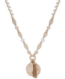 "lonna & lilly Gold-Tone Shell 38"" Long Pendant Necklace"